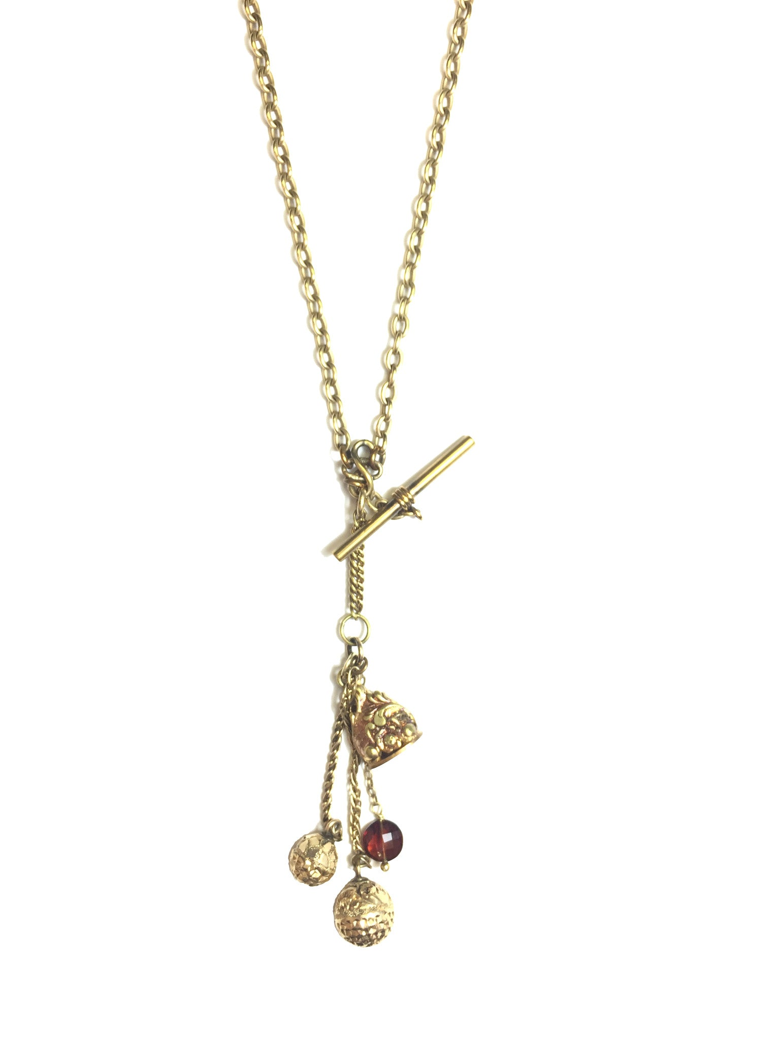 Vintage Multi Chains Garnet Necklace