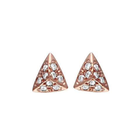 Pave Diamond Pyramid Studs