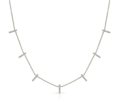 PAVE BAR DANGLE NECKLACE