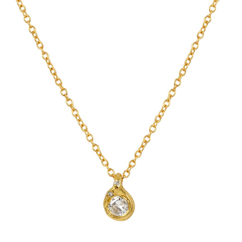Twinkling Diamond Bail Necklace