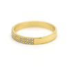 Triple Row Pave Diamond Band