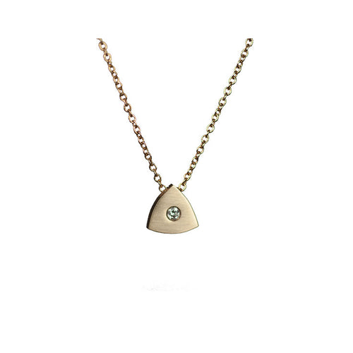 Reuleaux Triangle Pendant with Diamond