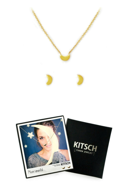 Moon-umental Necklace & Earring Set