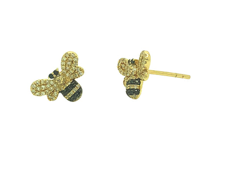 Pave Bumble Bee Studs