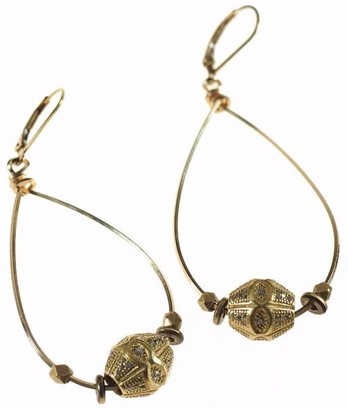 Antique Tear Drop Hoops