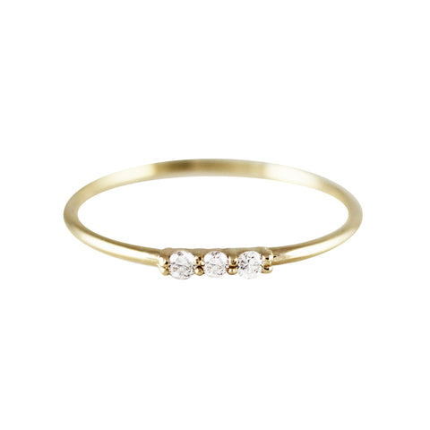 Dainty 3 Diamond Ring