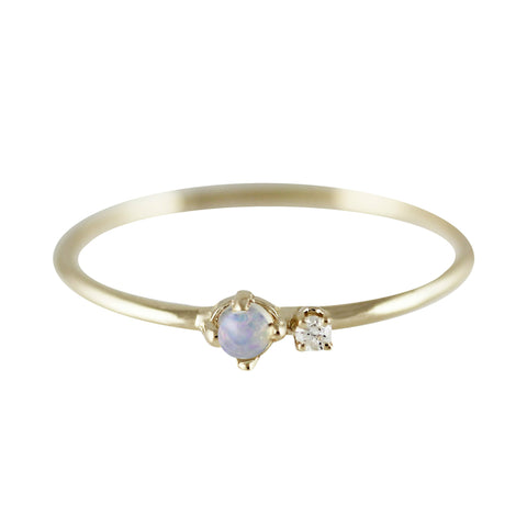 Duoplo Opal & Diamond Ring