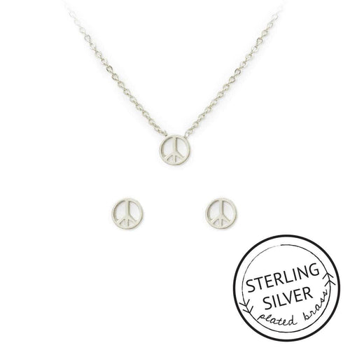 Peace Necklace & Earring Set