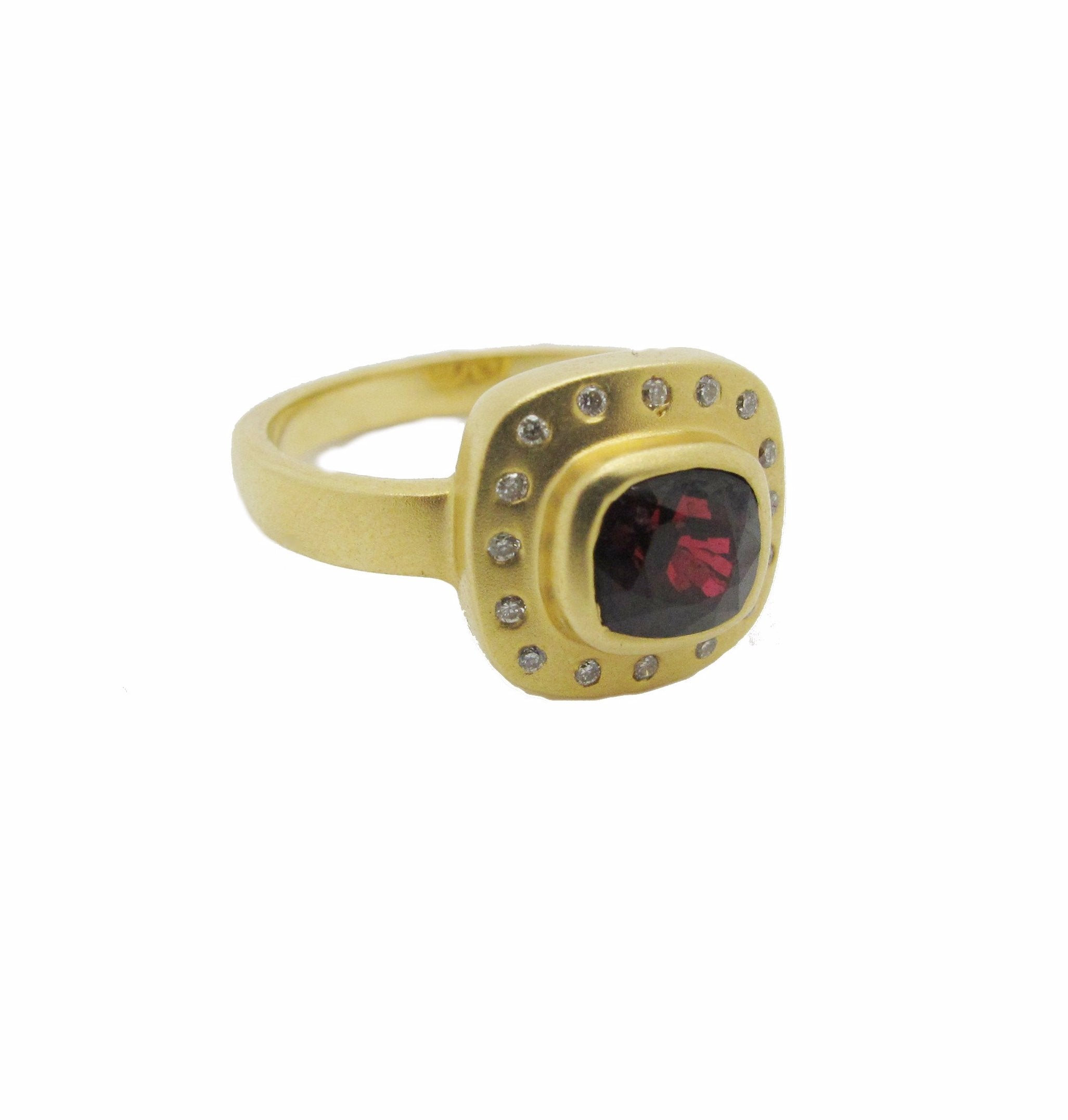 Rubellite Tourmaline & Diamond Ring