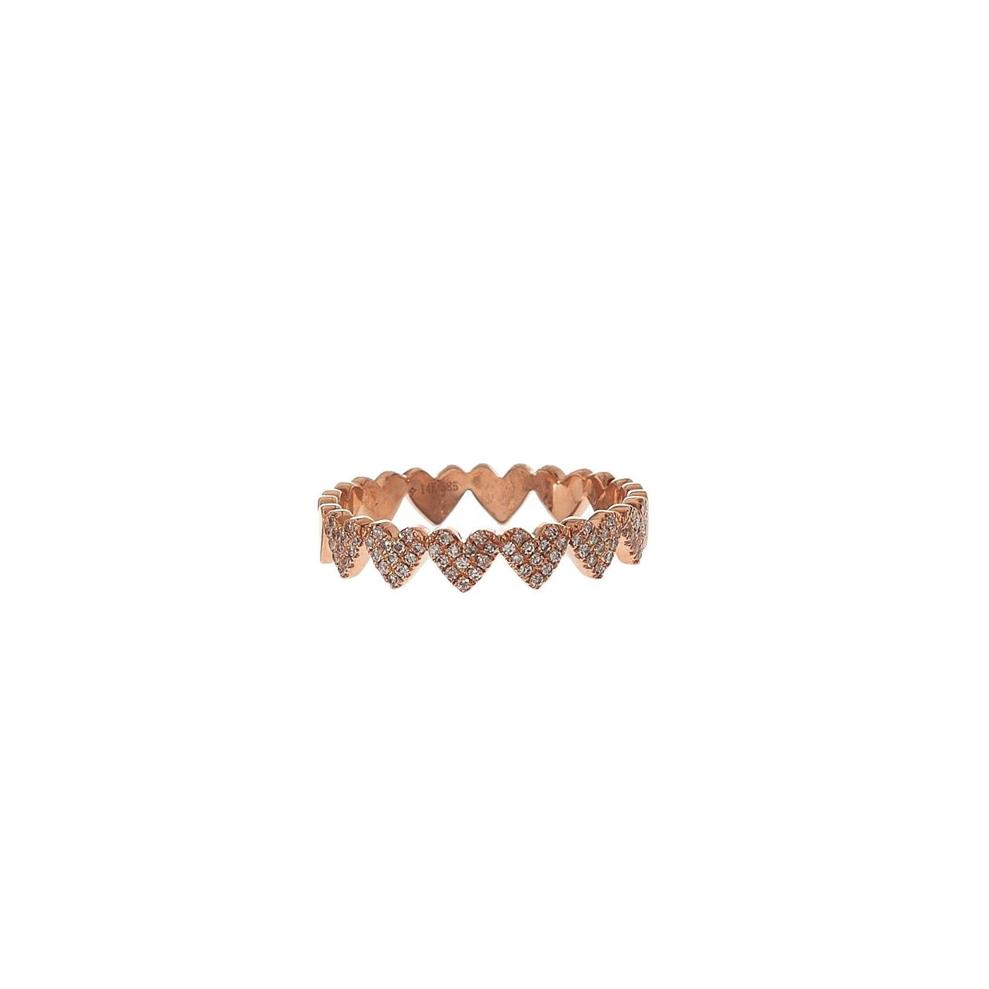 Pave Heart Eternity Band