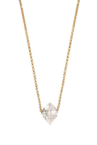 Herkimer Diamond Rolo Necklace
