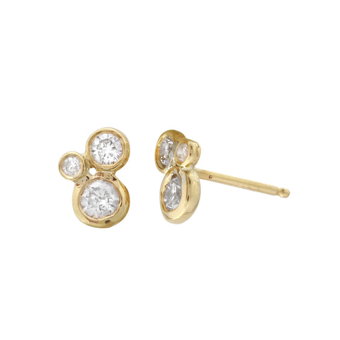 Triple Bezel Diamond Studs