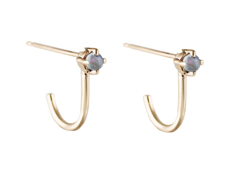 Kitto Opal Stud Earrings