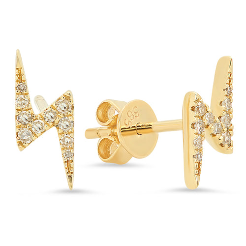 PAVE DIAMOND LIGHTNING STUDS