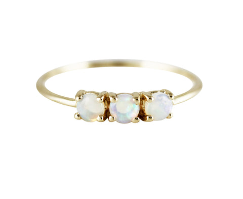 Medium Trio Opal Ring
