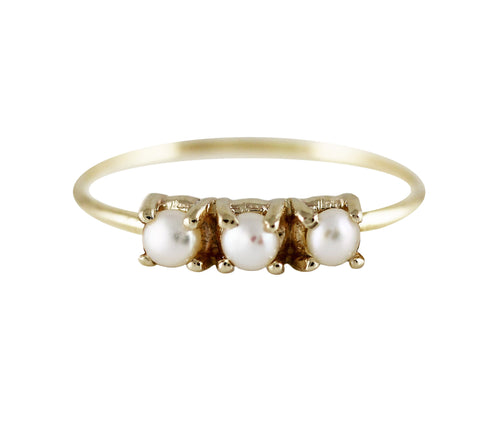 Medium Trio Pearl Ring