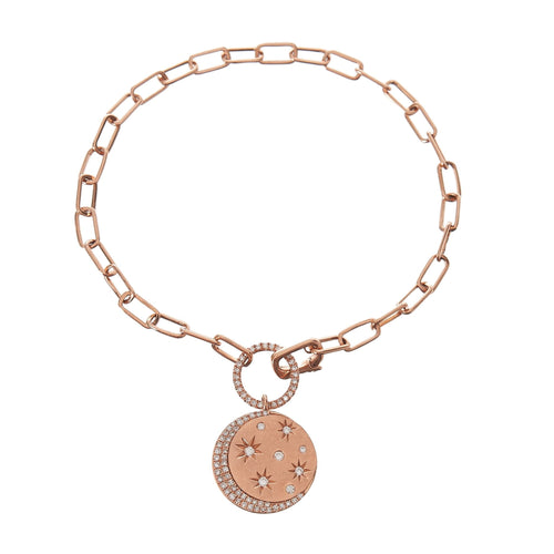 Diamond Moon & Stars Charm Bracelet