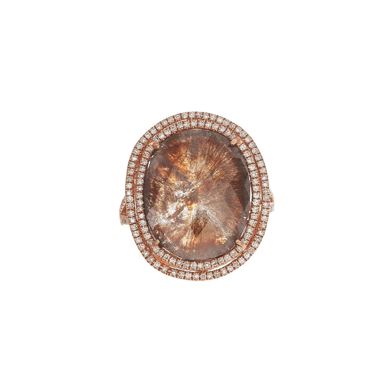 Oval Brown Diamond Ring