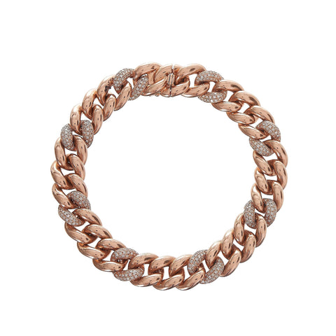 Alternating Pave Chain Link Bracelet