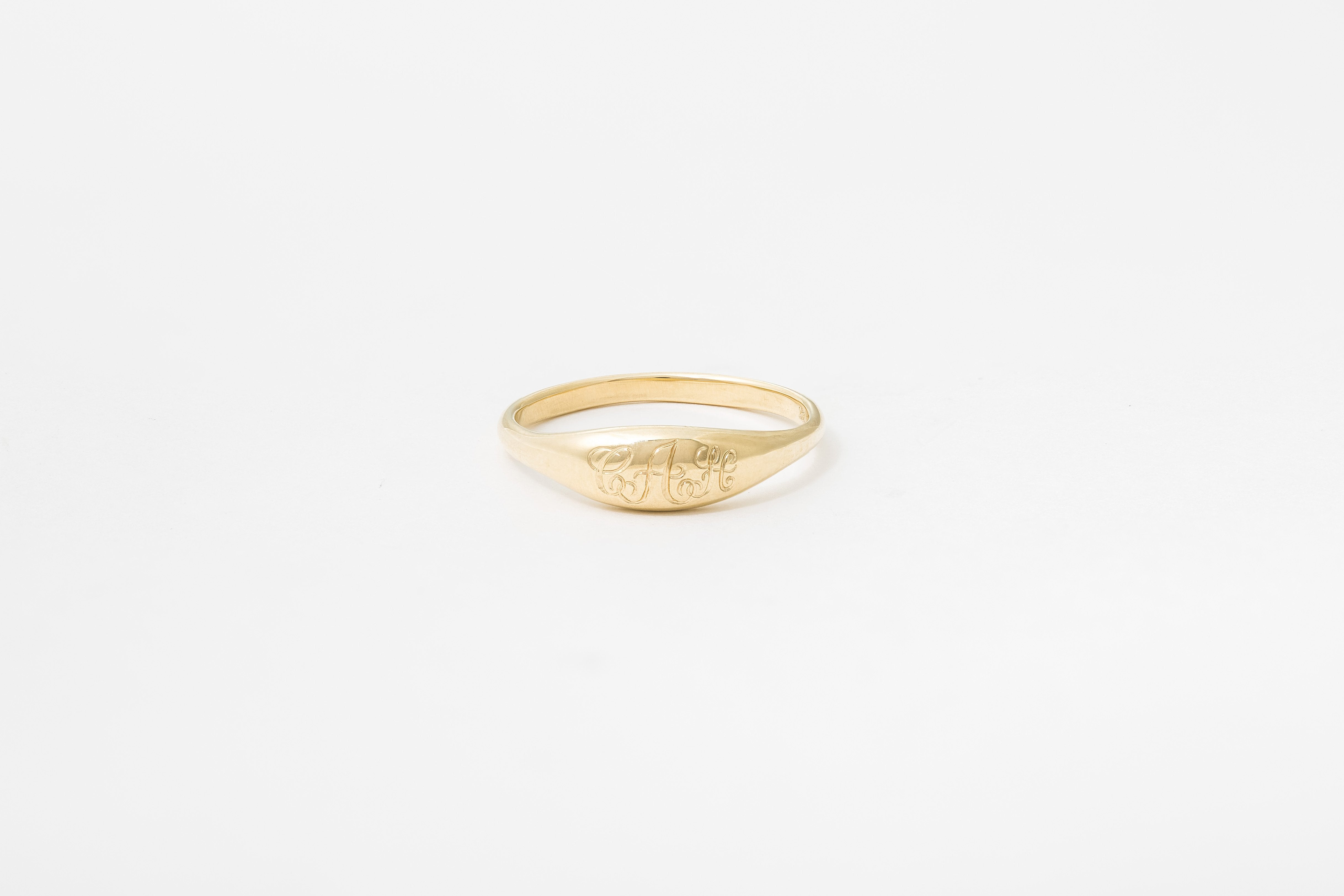Engraved Ovate IV Signet Ring