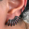 Single Black Diamond 8 Row Cuff Stud