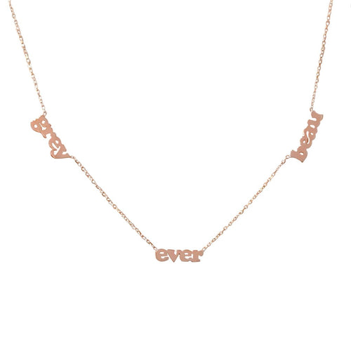 Triple Lowercase Personalized Necklace