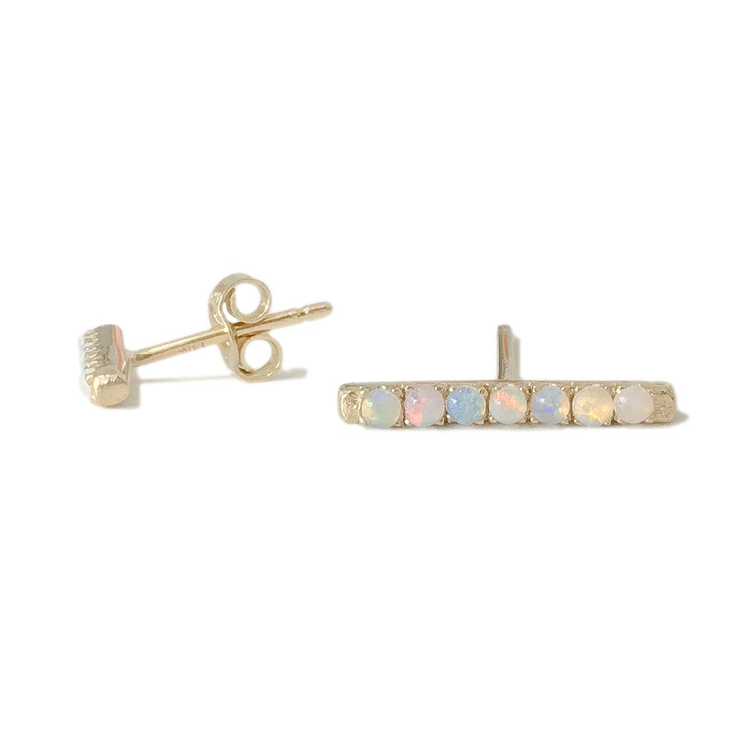 Single Opal Bar Stud