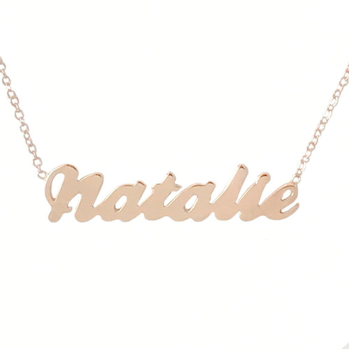 Gold Personalized Script Necklace