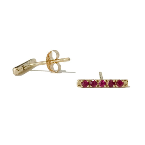 Single Ruby Bar Stud