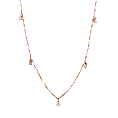 Tiny Diamond Dangle Necklace