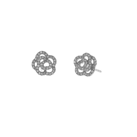 Diamond Rose Studs