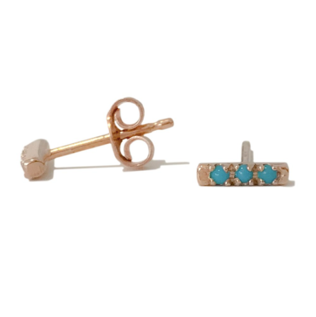 Single Turquoise Bar Stud