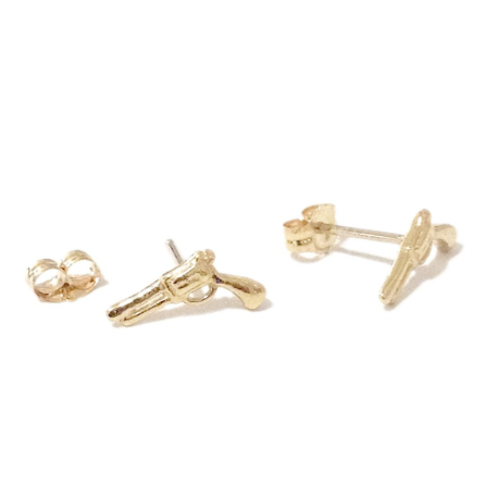 Pistol Gun Stud Earrings