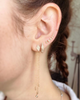 Pave Triangle Ear Climbers