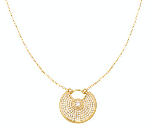 Semi Circle Pave Necklace