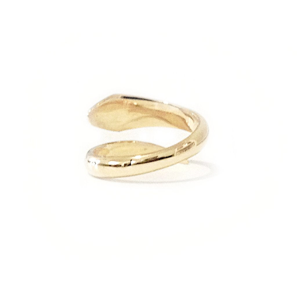 Gold Snake Bypass Ring