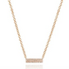 Small Pave Diamond Brick Necklace