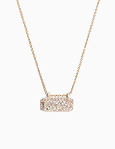 Horizontal Diamond Tag Necklace