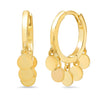 Gold Disc Dangle Huggies