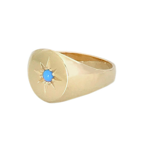 Turquoise Signet Ring