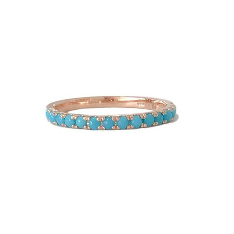 Turquoise Half Eternity Band