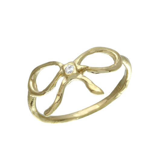 Diamond Ribbon Midi Ring