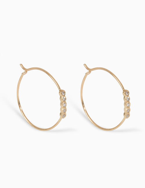 5 Diamond Hoops