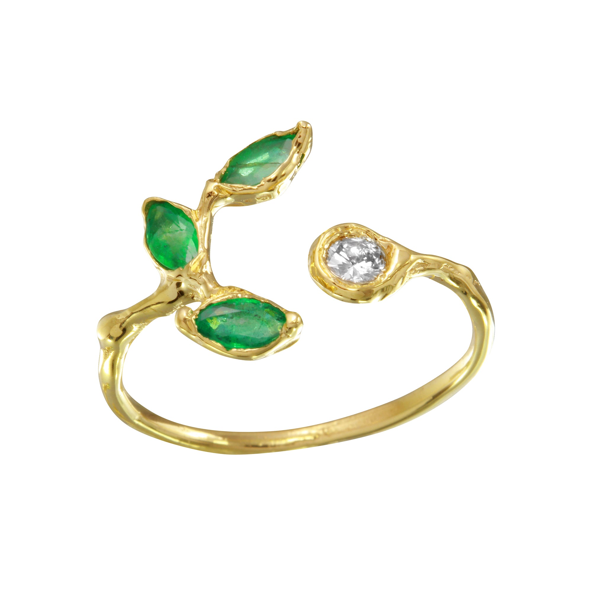 emerald may birthstone gold rings westdale emeral jewellers and