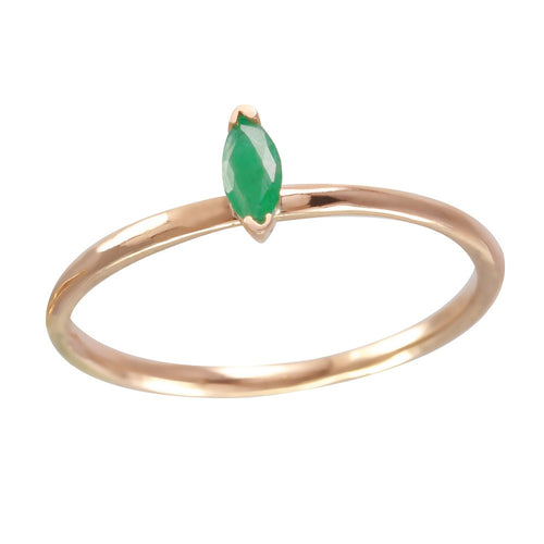Single Emerald Marquis Ring