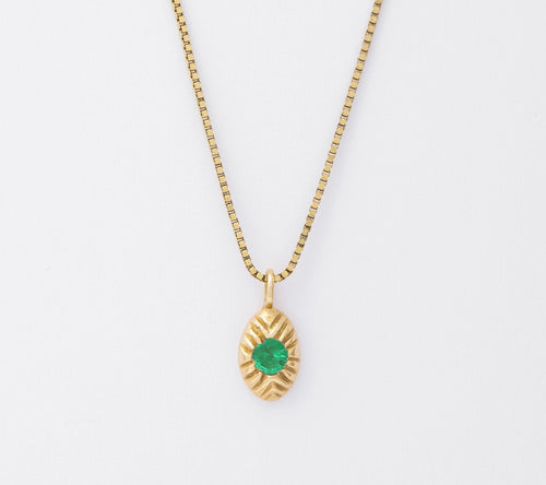 Emerald Seedling Necklace