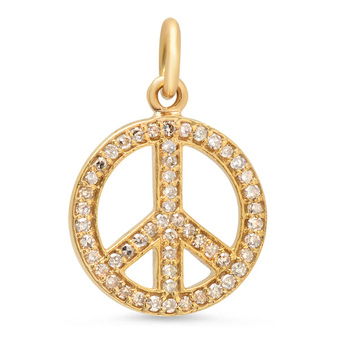 Pave Diamond Peace Charm