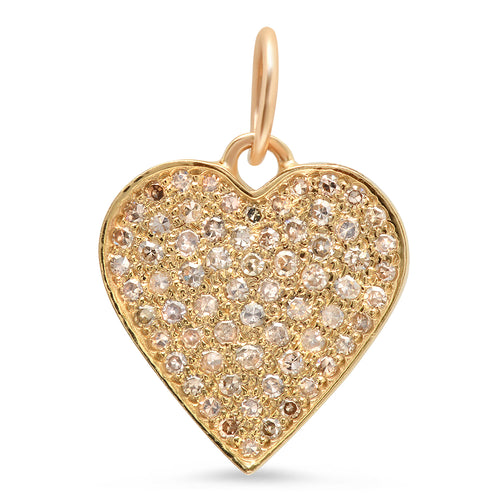 Pave Diamond Heart Charm
