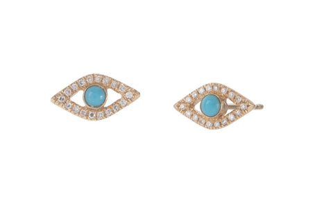 Turquoise Evil Eye Studs