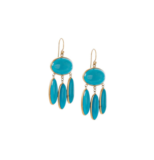 Turquoise Sleeping Beauty Chandelier Earring